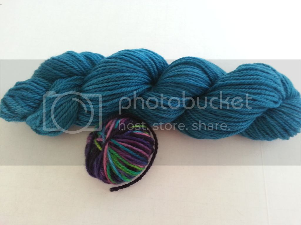 Teal BFL w/ free scrap of MM &quot;KIV&quot;