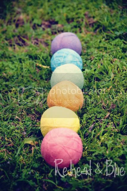 Sugar Rainbow Dryer Balls by Redhead &amp; Blue